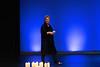 Glenese Blake walks on stage