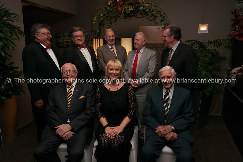 Past Presidents Jim Smylie, Andrew von Dadleszen,  Mike Chapman, Jock McIntyre,  Derek Vincent, Neil Pettersen, Club President Tracey Rudduck-Gudsell and Ray Goddard,