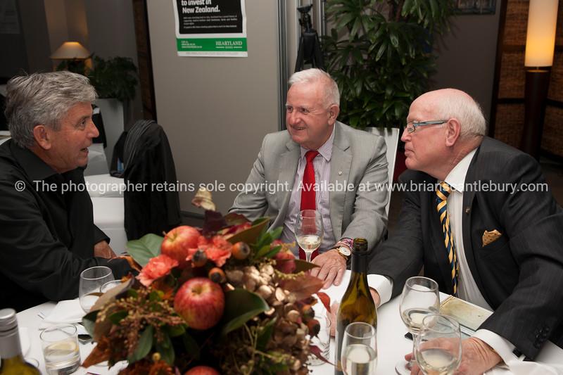 Glynn Forde,  Past Presidents Jock McIntyre and Neil Pettersen