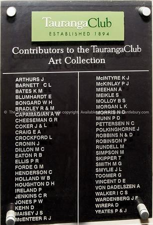 Contributors to the Tauranga Club Art Collection.