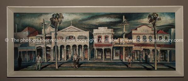 An original Edward Bullmore -  painting of early Tauranga.
