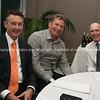Mayor Stuart Crosby, Phil Gudsell, Sir Gordon Tietjens
