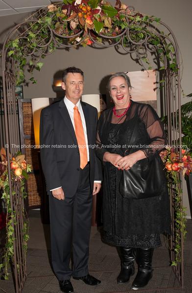 Mayor Stuart Crosby and Anne Pankhurst