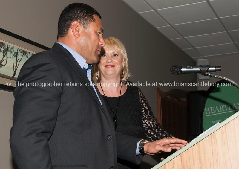 Former All Black Frano Botica, Club President Tracey Rudduck-Gudsell