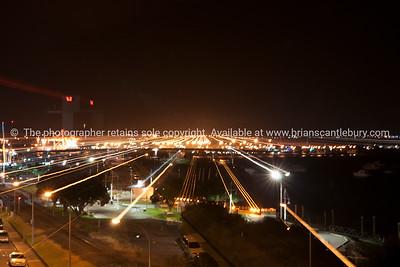 Tauranga at night from Club deck