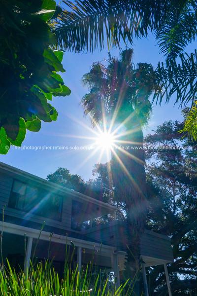 Sun flare over The Beach House