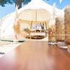 Glamping tent and set up at Mount Maunganui