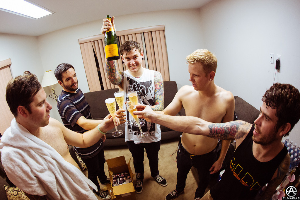 Celebratory cheers after the set