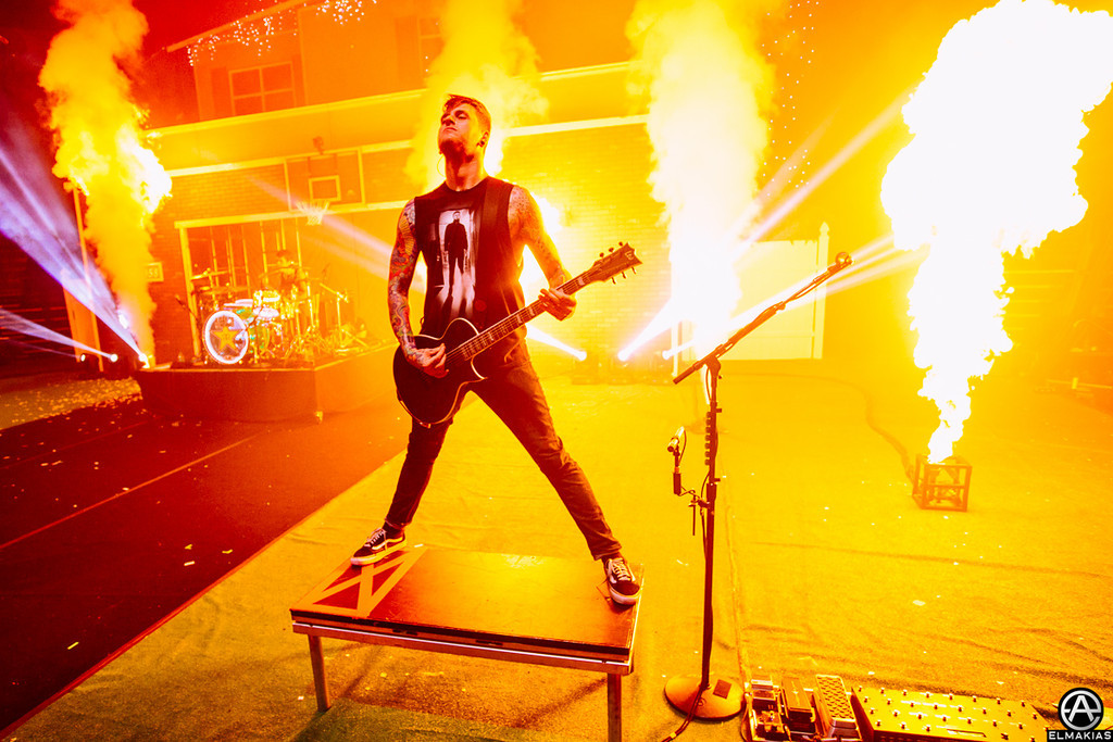 Neil Westfall soaking up some flames- The House Party Tour