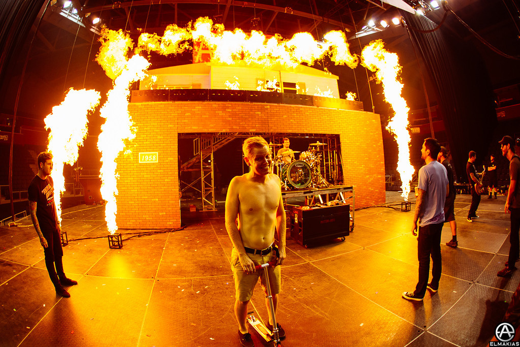 Pyro tests with A Day To Remember, Josh said it was hot