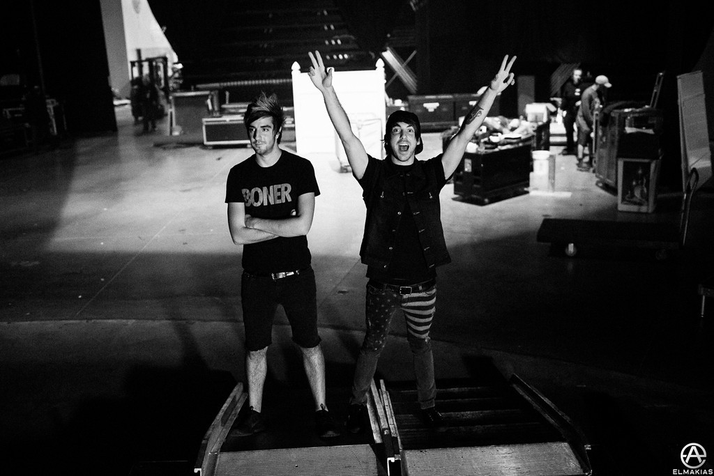 Jack and Alex of All Time Low right before going to stage