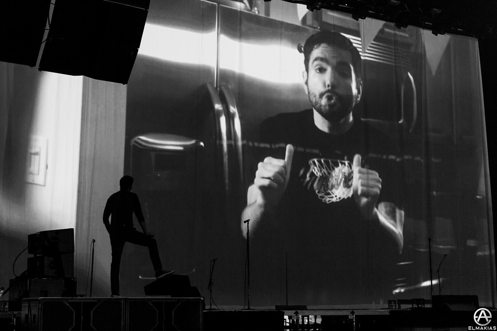 Jeremy McKinnon watching the intro video