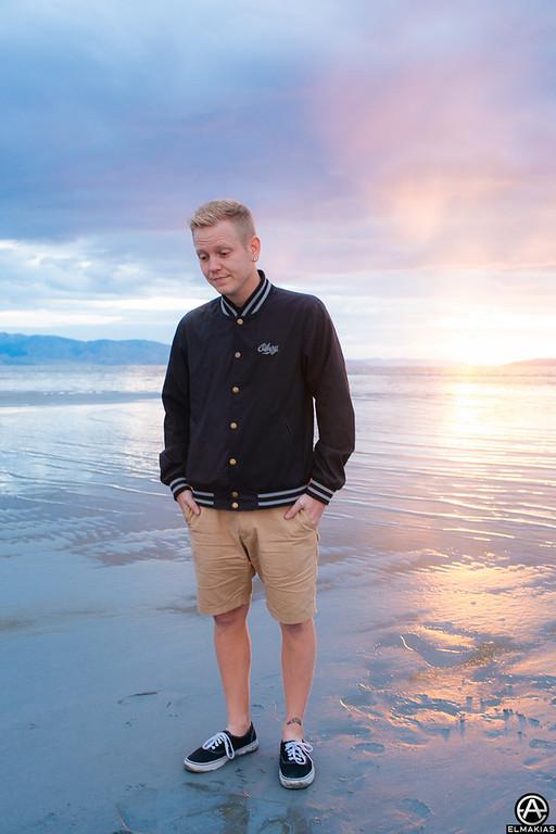 Josh Woodard at the salt flats