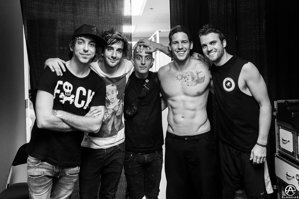 Adam Elmakias Hanging with All Time Low - The House Party Tour