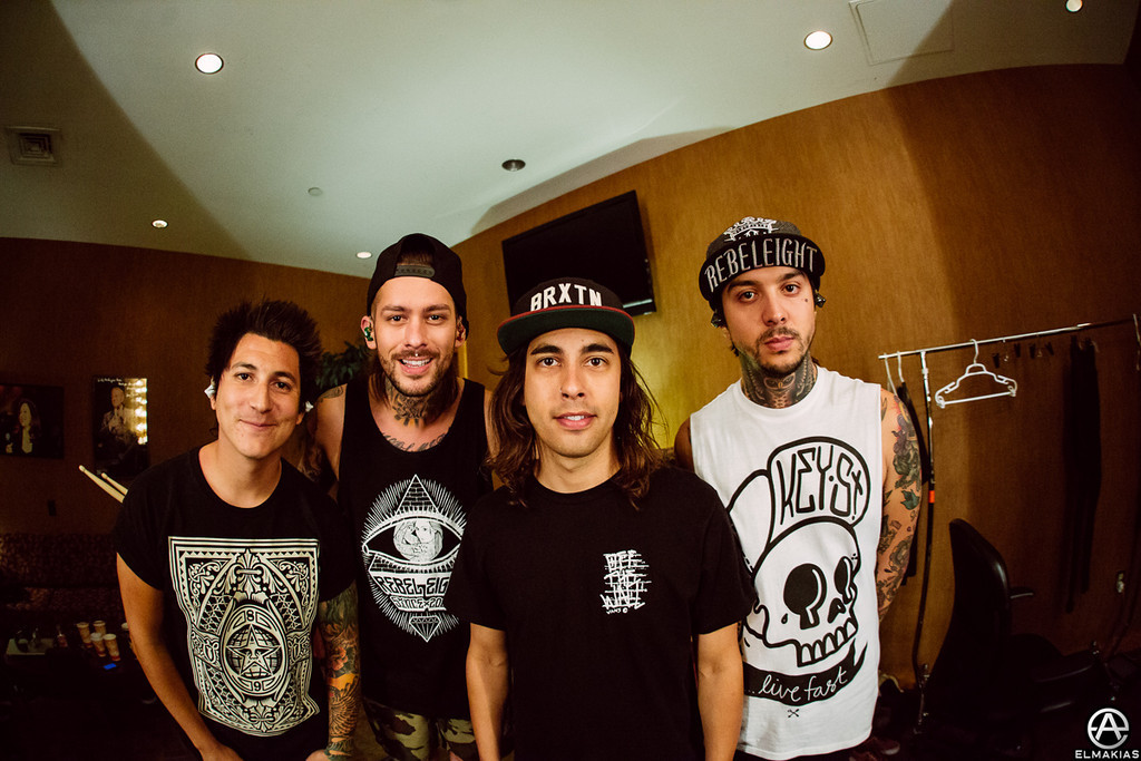 Dressing room with Pierce The Veil