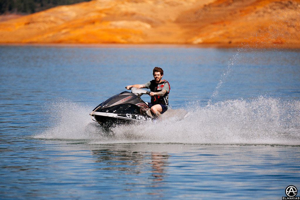 Shelnutt on a jet ski