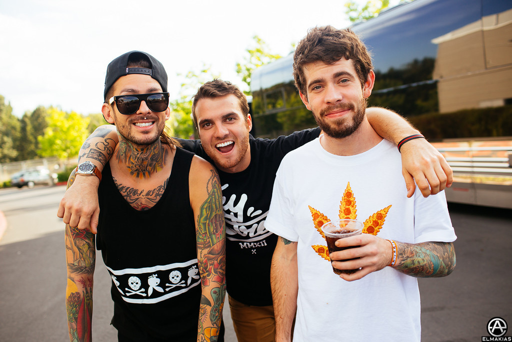 Drummers, Mike, Rian, and Alex