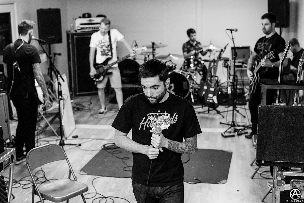 Full band rehearsal for The House Party Tour