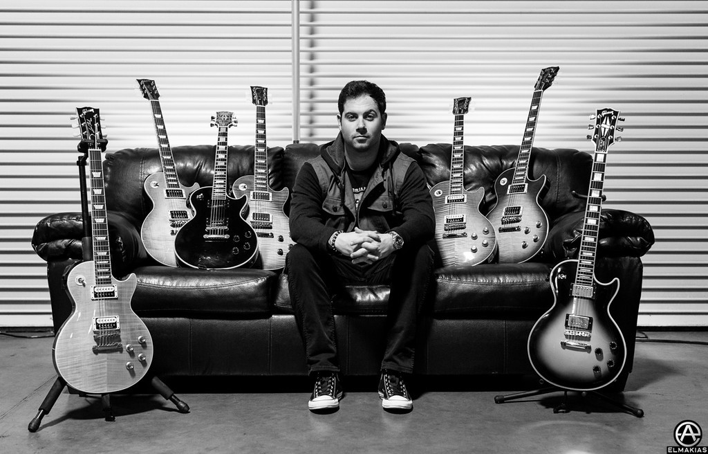 Kevin Skaff and his Gibson Guitars