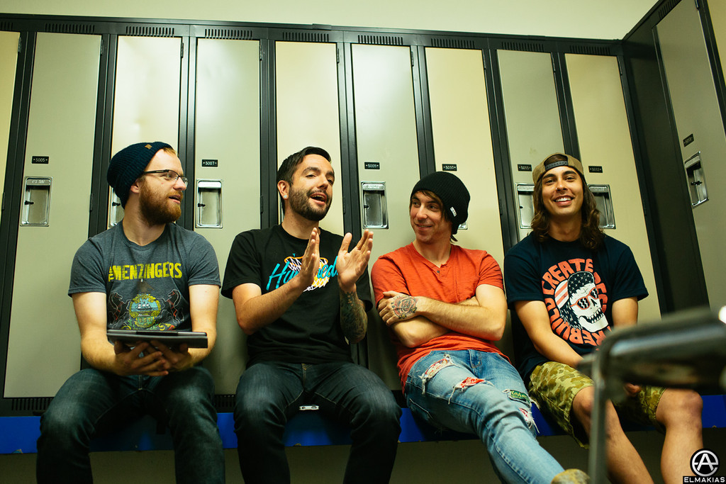 Soup, Jeremy, Alex and Vic doing an AP video chat - The House Party Tour