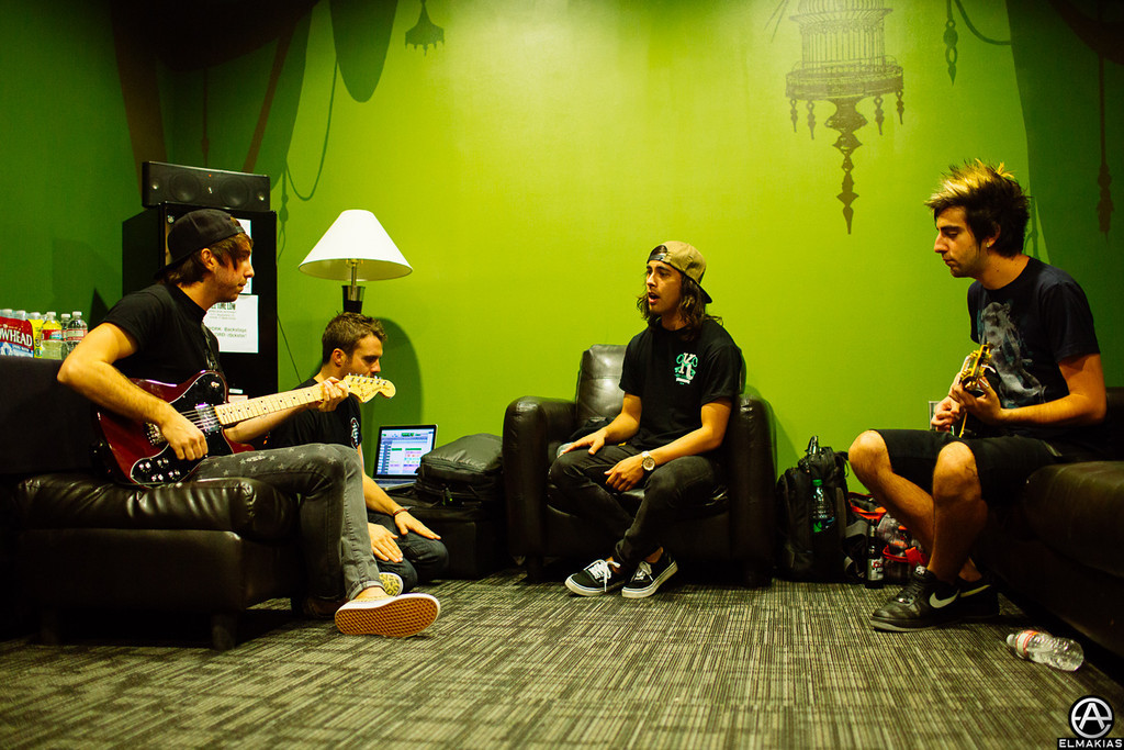 All Time Low Practicing a Love Like War with Vic Fuentes
