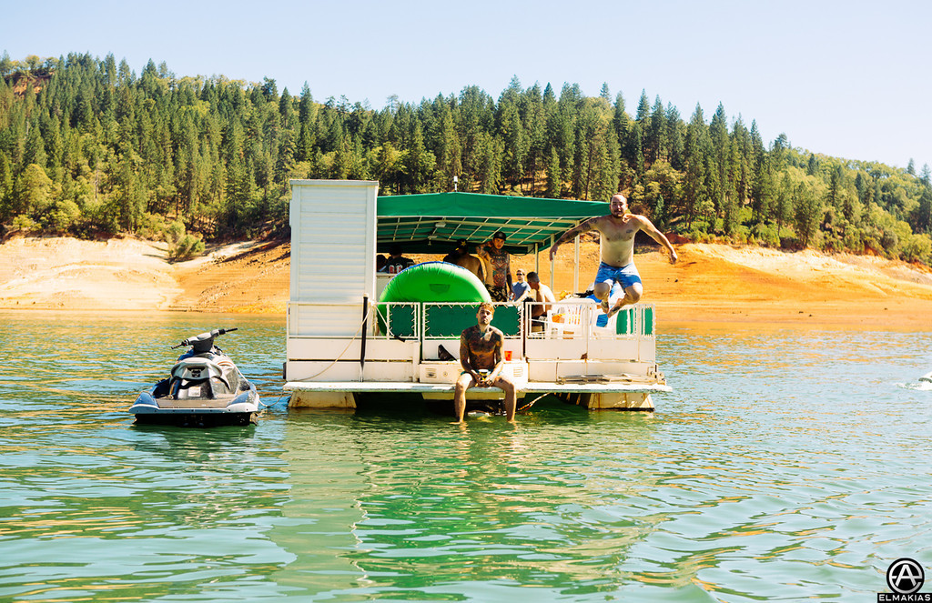 Boat jumps