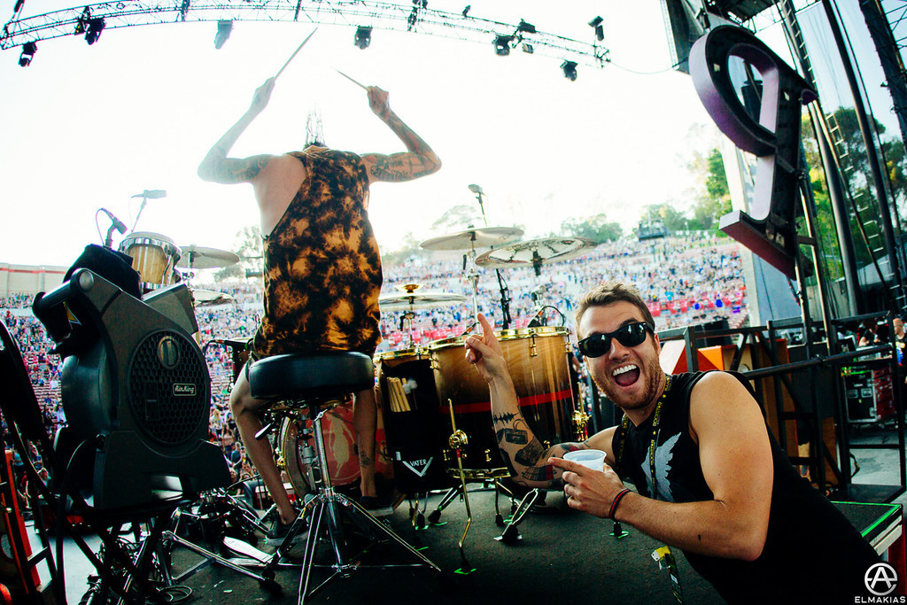Rian Dawson of All Time Low and Mike Fuentes of Pierce The Veil - The House Party Tour