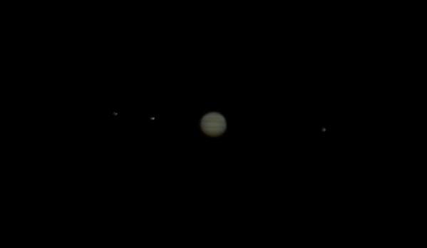 Jupiter with 3 moons, Miramar FL, August 31, 2009.