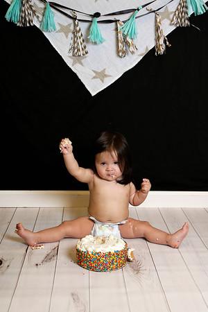 Lawson ~ 1 year and cake smash!