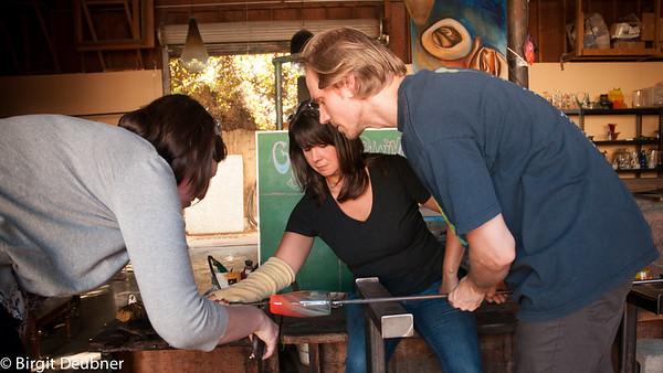 Jason Stropko Verlocal Glassblowing class