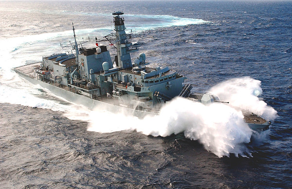 FX030970D HMS MARLBOROUGH PASSAGE TO SINGAPORE 12/06/03