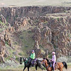 """left, Pam Davenport and """"Kentucky Natural Gaited Horse"""" The Traveling Man<br /> 2018 Eagle Canyon"""