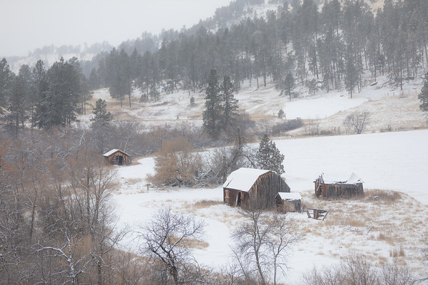 Some old barns in Custer Gallatin NF