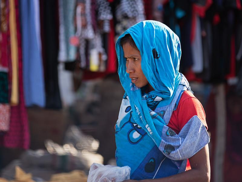 Blue Market Lady