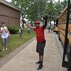 Mr. Melvin Frizzelle is honored by his bus route students, administration and friends as today is his last day before he retires.