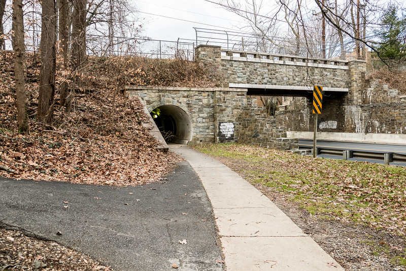Stone Bridge over Massachusettes Ave on the Capital Crescent Trail in Bethesda< MD