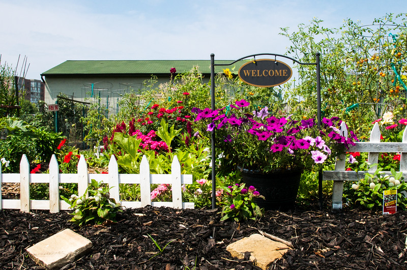 The Welcome sign to the common garden area on the campus of Leisure World