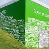 Class of 2017 Green and White wall looms large over the athletic fields at Walter Johnson High School