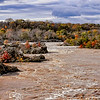 Great Falls MD - Overlook, A flooded Potomac River after a Hurricane hits the Mid Atlantic