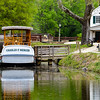The Charles Mercer canal boat rests at Great Falls.  Construction and repair of the canal in 2017 in Georgetown will drain the canal water and the Mercer will be up on blocks in the canal.