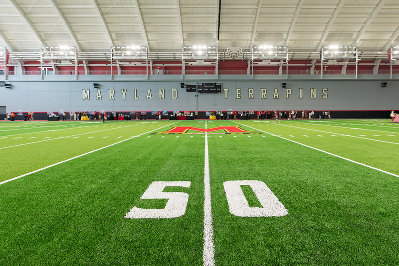 University of Maryland Strategic Partnership Breaks Ground on Research and Academic Spaces, Celebrates Dedication of Completed Indoor Practice Field.