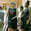QO's Danni Lehner looks to find a seat on the bench for a breather during the Poolesville game