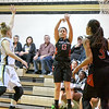 Jump shots like this from Alexa Sanmartin were hard to find and make against Poolesville