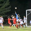 Goalie for QO made many saves against Wootton, who went on to beat QO and advance in the playoff rounds.