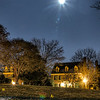 New Year Moon over Inspiration Lane near the Kentlands Mansion