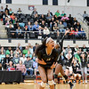 College Park, MD, Ritchie Coliseum:  Jenaisya Moore reacting to match point versus Arundel in 4A MD State Championship
