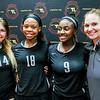College Park, MD, Ritchie Colisuem:  MD State Semi Final, (L to R) Dasha Kurochkina, Jenaisya Moore, Janiece Jefferies, NW Coach Stephanie Blake