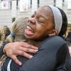 College Park, MD, Ritchie Coliseum: Jenaisya Moore hugs Nataliya Chepurnova after winning MD State Volleyball Championship