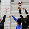 College Park, MD Ritchie Colisuem: NW's Morgan Lowrey and Jenaisya Moore against a Sherwood defender in MD State Semi Final