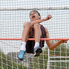 Broad Run track and field meet - high jump. He cleared the bar.